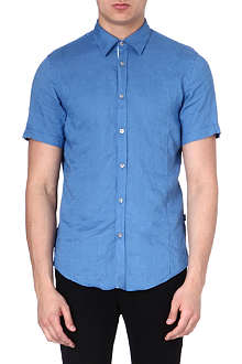 HUGO BOSS Short sleeve linen shirt