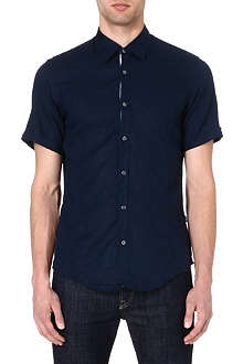 HUGO BOSS Slim-fit linen shirt