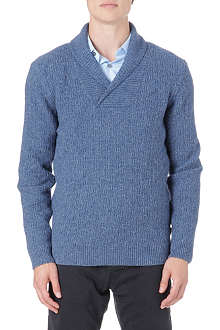 HUGO BOSS Shawl-collar textured jumper