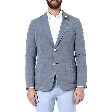 HUGO BOSS Marquel linen-blend jacket (Blue
