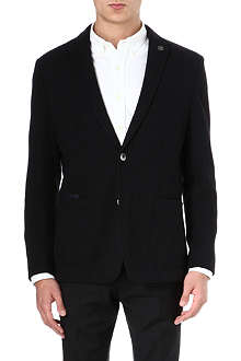 HUGO BOSS Jersey-wool quilted patch blazer