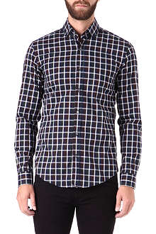 HUGO BOSS Plaid single-cuff shirt