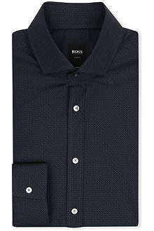 HUGO BOSS Mason micro diamond print shirt