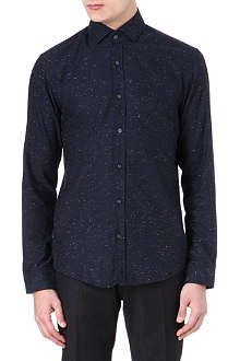HUGO BOSS Mason flecked shirt