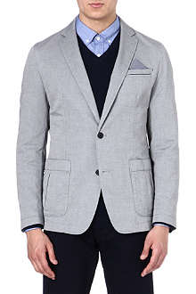 HUGO BOSS Jacquard cotton blazer