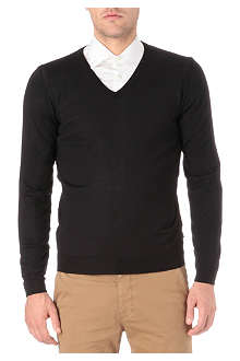 HUGO BOSS Merino wool knitted jumper