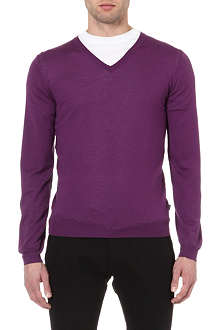 HUGO BOSS Extra fine merino-wool jumper