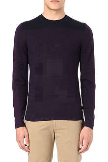 HUGO BOSS Striped merino jumper