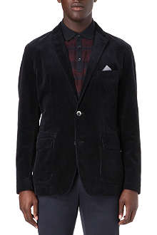 HUGO BOSS Single-breasted corduroy blazer