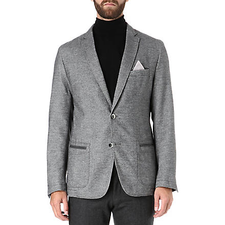 HUGO BOSS Wool-blend pocket jacket (Grey