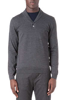 HUGO BOSS Nala shawl collar knitted top