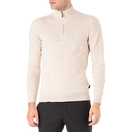 HUGO BOSS Cashmere knitted jumper (White