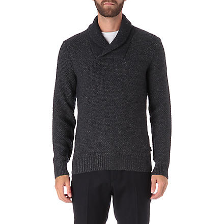 HUGO BOSS Nard shawl jumper (Navy