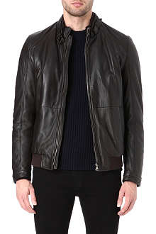 HUGO BOSS Nedaz leather blouson jacket