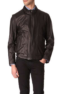 HUGO BOSS Nestroio leather jacket