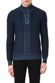 HUGO BOSS Textured virgin wool knitted jumper