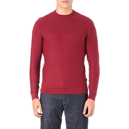 HUGO BOSS Niato textured jumper (Red