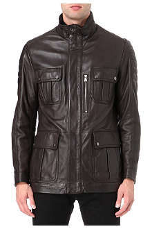 HUGO BOSS Leather field jacket