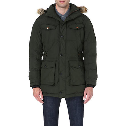 HUGO BOSS Obend quilted coat (Green