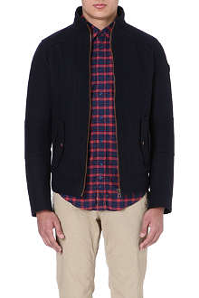 HUGO BOSS Melton wool bomber jacket
