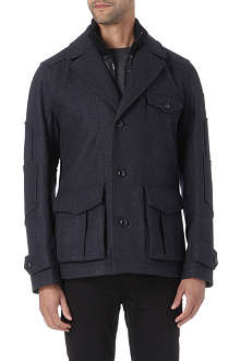 HUGO BOSS Opolice wool-blend coat