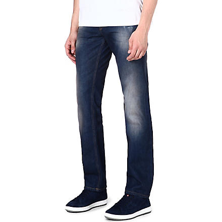 HUGO BOSS Regular-fit tapered jeans (Blue