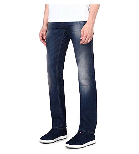 HUGO BOSS Regular-fit tapered jeans (Blue