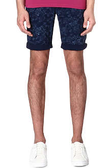 HUGO BOSS Floral denim shorts