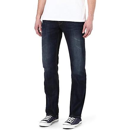 HUGO BOSS Ocean regular-fit straight-leg jeans (Blue