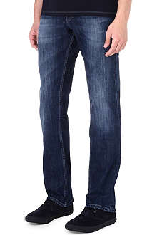HUGO BOSS Orange 25 regular-fit washed jeans
