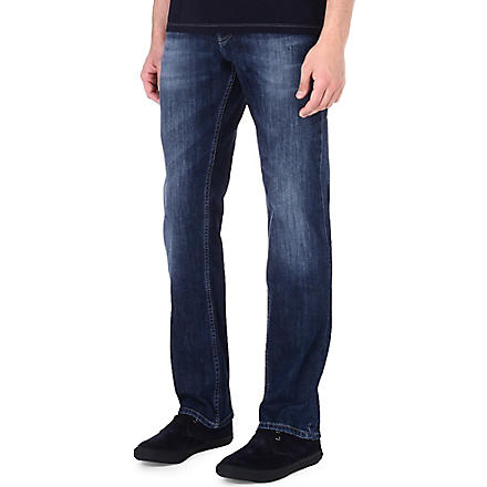 HUGO BOSS Orange 25 regular-fit washed jeans (Navy