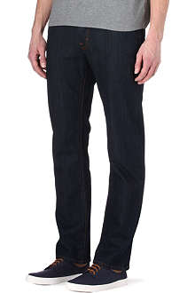 HUGO BOSS Orange 25 regular-fit mid-rise jeans