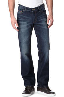 HUGO BOSS Orange 31 regular-fit straight jeans