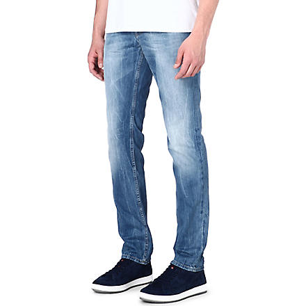HUGO BOSS Slim-fit straight jeans (Blue