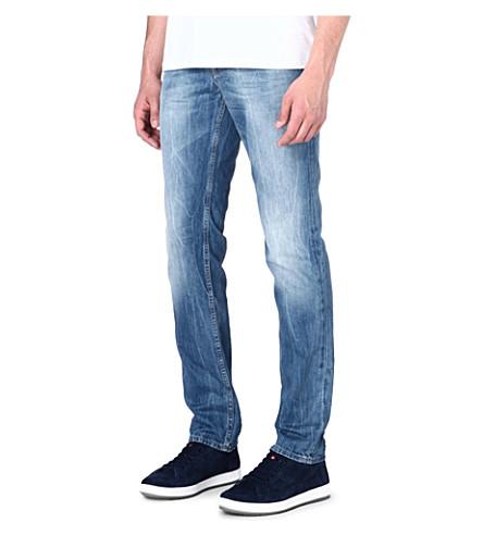 HUGO BOSS Slim-fit straight jeans (Blue