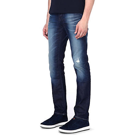HUGO BOSS Slim-fit tapered jeans (Blue