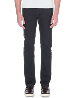 HUGO BOSS Regular-fit stretch-denim coated jeans