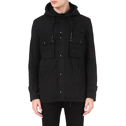 HUGO BOSS Cotton parka jacket (Black