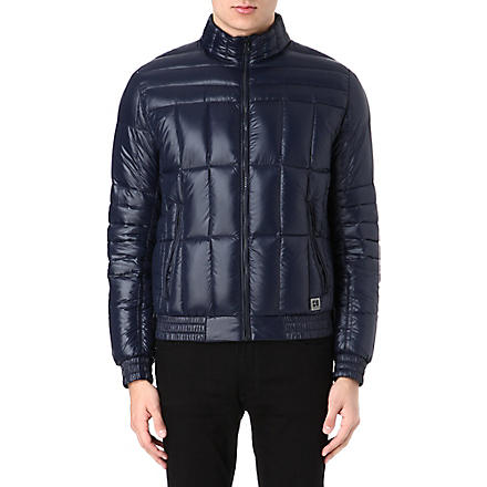 HUGO BOSS Pack-away quilted jacket (Navy
