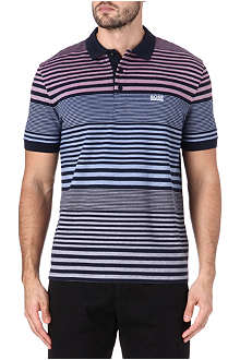 HUGO BOSS Gradient stripe polo shirt