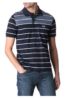 HUGO BOSS Paddy neon-striped polo shirt