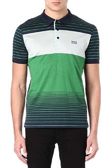 HUGO BOSS Varied stripe polo shirt