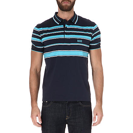 HUGO BOSS Paddy striped polo shirt (Navy
