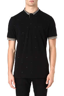 HUGO BOSS Square embroidered polo shirt