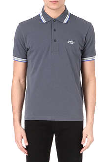 HUGO BOSS Striped-detail polo shirt