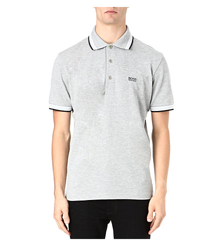 HUGO BOSS Paddy basic logo polo shirt (Grey