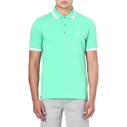 HUGO BOSS Paddy cotton-piqué polo shirt (Green