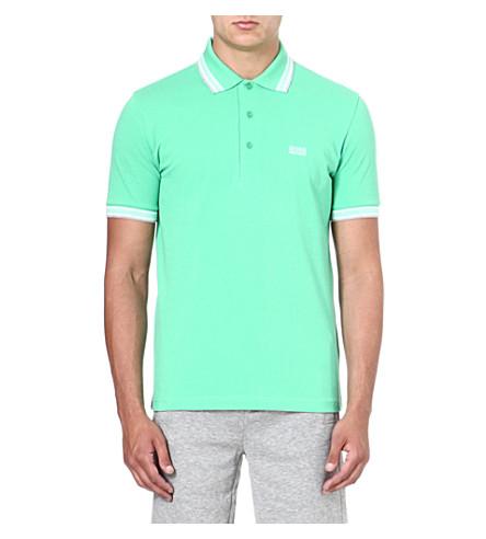 HUGO BOSS Paddy cotton-piqué polo shirt (Green