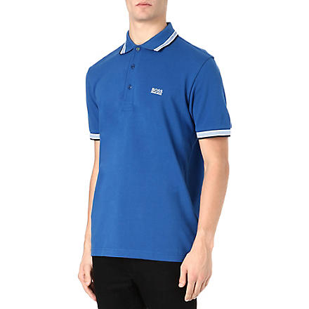 HUGO BOSS Paddy basic logo polo shirt (Blue