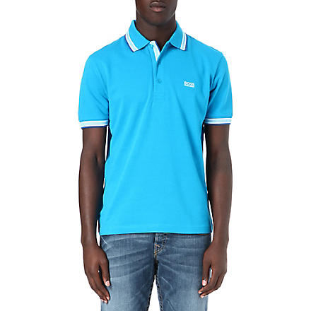 HUGO BOSS Basic logo polo shirt (Blue